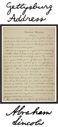 Ansprache  in Gettysburg