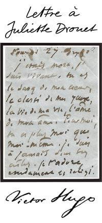 Lettre à Juliette Drouet