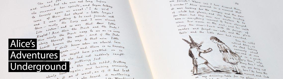 Alice im Wunderland, Das Manuskript von Lewis Carroll