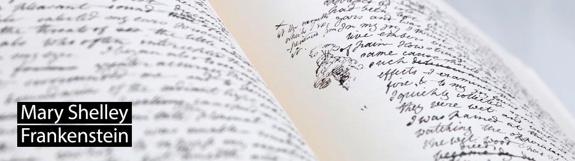 Frankenstein, Das Manuskript von Mary Shelley