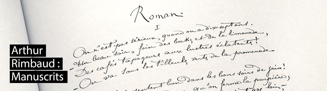 Les Poèmes manuscrits de Rimbaud