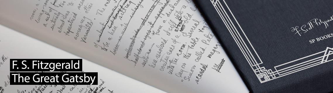 Der große Gatsby, Das Manuskript von Francis Scott Fitzgerald