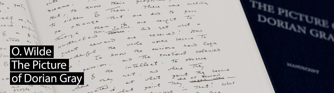 Das Bildnis des Dorian Gray, Das Manuskript von Oscar Wilde