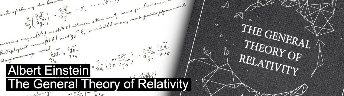 La théorie générale de la relativité, la manuscrit d'Albert Einstein